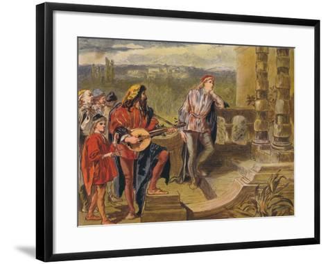 The Musician Sings in the Two Gentlemen of Verona: Act IV Scene II, C1875-Sir John Gilbert-Framed Art Print