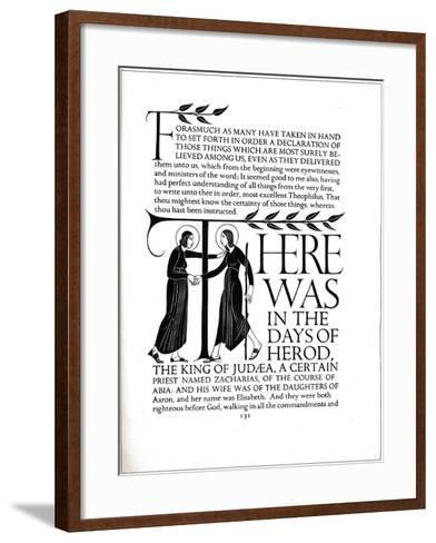 Page Decoration from the Four Gospels, 1931-Eric Gill-Framed Art Print