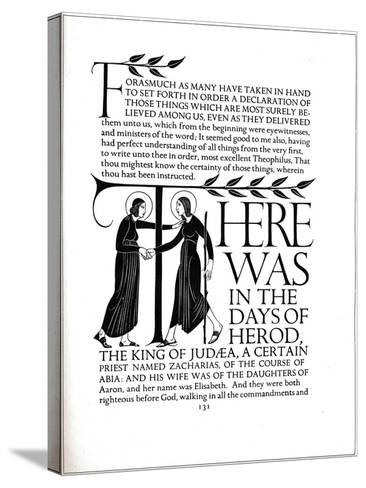 Page Decoration from the Four Gospels, 1931-Eric Gill-Stretched Canvas Print