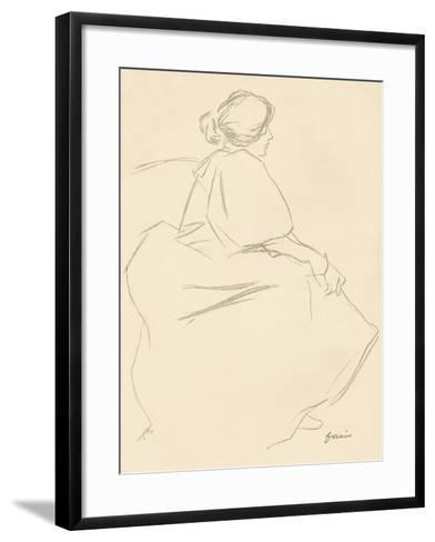 A Study in Crayon, C1872-1898, (1898)-Jean Louis Forain-Framed Art Print