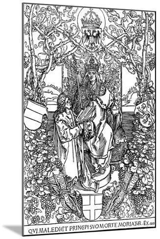 Conrad Celtes Presenting His Book Quatuor Libri Amorum to Maximilian I, 1502-Albrecht D?rer-Mounted Giclee Print