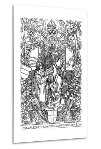 Conrad Celtes Presenting His Book Quatuor Libri Amorum to Maximilian I, 1502-Albrecht D?rer-Metal Print