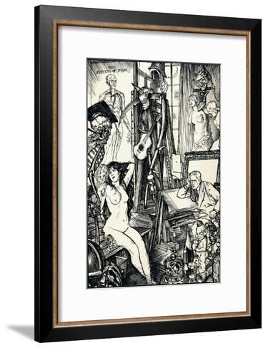The Cartoonist - Stage Vi, C1920-Edmund Joseph Sullivan-Framed Art Print