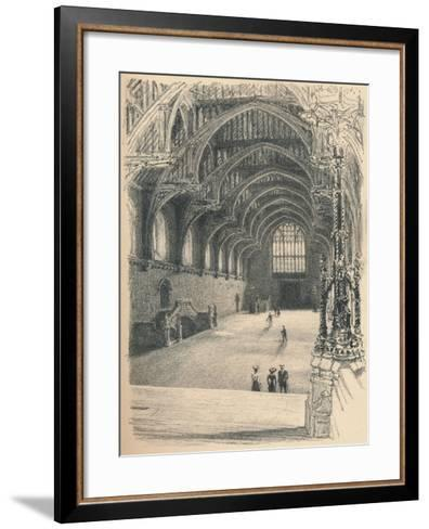 Interior of Westminster Hall, Westminster Palace, 1902-Thomas Robert Way-Framed Art Print