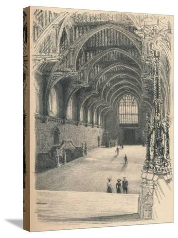 Interior of Westminster Hall, Westminster Palace, 1902-Thomas Robert Way-Stretched Canvas Print