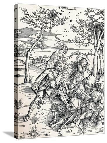 Hercules, 1497-Albrecht D?rer-Stretched Canvas Print