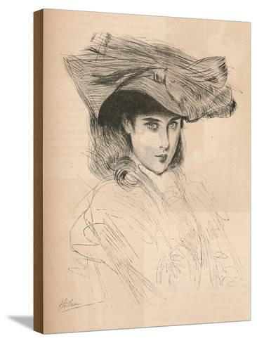 Portrait of the Artists Daughter, C1879-1903, (1903)-Paul Cesar Helleu-Stretched Canvas Print