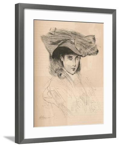 Portrait of the Artists Daughter, C1879-1903, (1903)-Paul Cesar Helleu-Framed Art Print