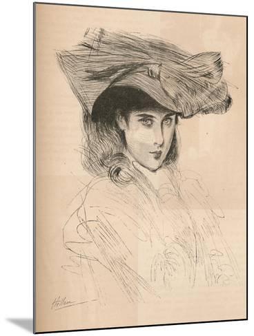 Portrait of the Artists Daughter, C1879-1903, (1903)-Paul Cesar Helleu-Mounted Giclee Print