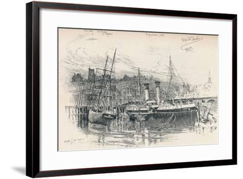 Folkestone Harbour, 1896, (1898)-Edward William Charlton-Framed Art Print