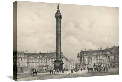 The Place Vendome Column, 1915-Jean Jacottet-Stretched Canvas Print