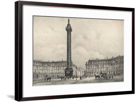 The Place Vendome Column, 1915-Jean Jacottet-Framed Art Print