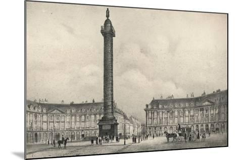 The Place Vendome Column, 1915-Jean Jacottet-Mounted Giclee Print