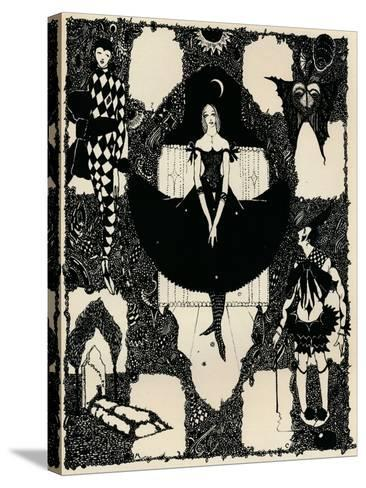 Columbine, C 1900-1930, (1925)-Harry Clarke-Stretched Canvas Print