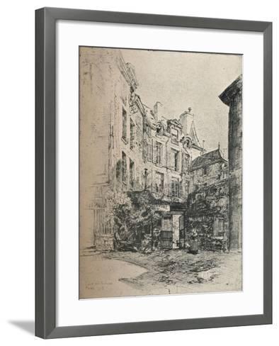 Cour De Rohan, 1915-Charles Jouas-Framed Art Print