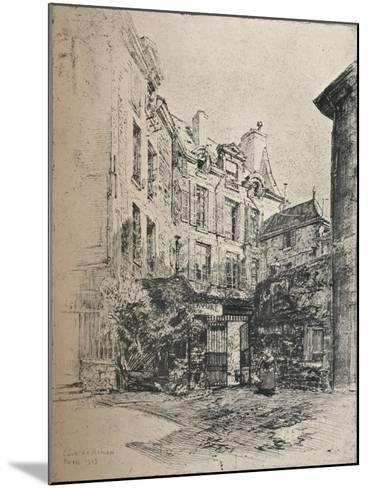 Cour De Rohan, 1915-Charles Jouas-Mounted Giclee Print
