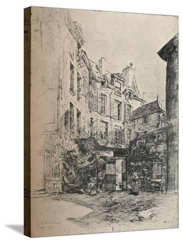 Cour De Rohan, 1915-Charles Jouas-Stretched Canvas Print