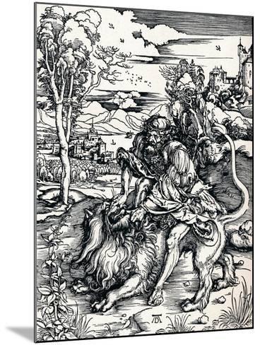 Samson Rending the Lion, 1497-Albrecht D?rer-Mounted Giclee Print