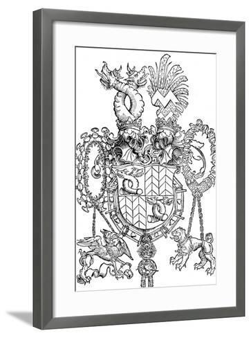 The Coat of Arms of Florian Waldauf, 1500-Albrecht D?rer-Framed Art Print