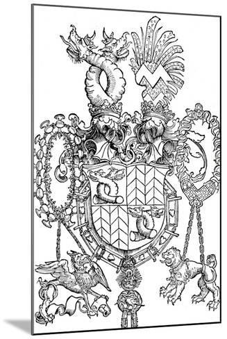 The Coat of Arms of Florian Waldauf, 1500-Albrecht D?rer-Mounted Giclee Print