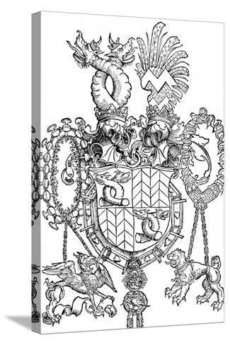 The Coat of Arms of Florian Waldauf, 1500-Albrecht D?rer-Stretched Canvas Print