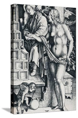 The Dream of the Doctor, 1497-1498-Albrecht D?rer-Stretched Canvas Print