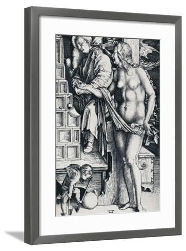 The Dream of the Doctor, 1497-1498-Albrecht D?rer-Framed Art Print