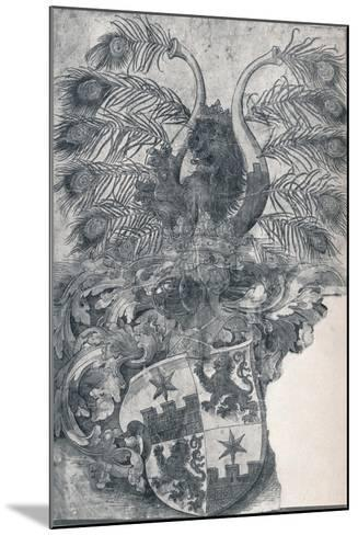 The Coat of Arms of Wilhelm and Wolfgang Roggendorff, 1520-Albrecht D?rer-Mounted Giclee Print