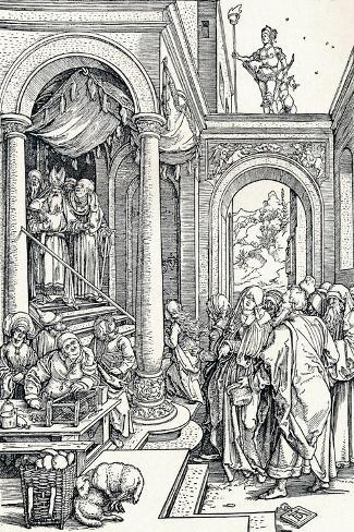 The Presentation of the Virgin in the Temple, 1506-Albrecht D?rer-Stretched Canvas Print