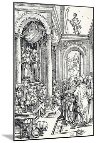 The Presentation of the Virgin in the Temple, 1506-Albrecht D?rer-Mounted Giclee Print