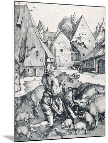 The Prodigal Son, 1495-Albrecht D?rer-Mounted Giclee Print