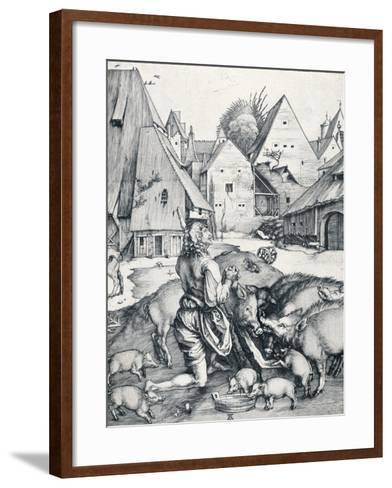 The Prodigal Son, 1495-Albrecht D?rer-Framed Art Print