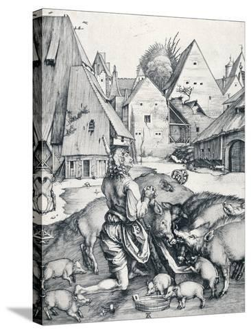 The Prodigal Son, 1495-Albrecht D?rer-Stretched Canvas Print