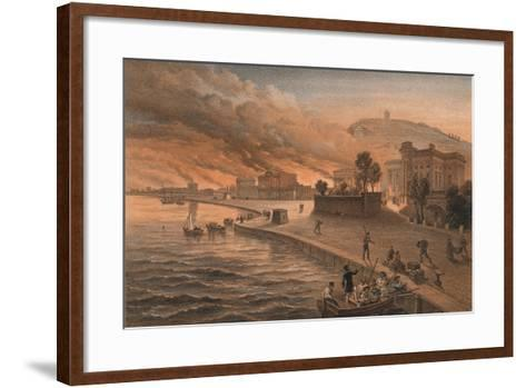 Burning of the Government Buildings at Kertch, 9th June 1855, 1856-Thomas Picken-Framed Art Print