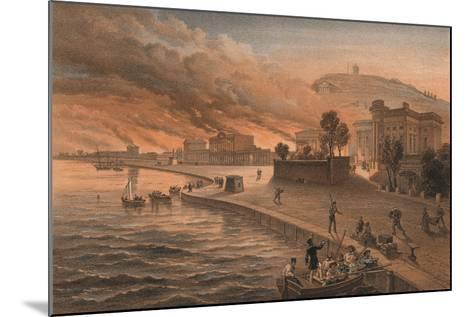 Burning of the Government Buildings at Kertch, 9th June 1855, 1856-Thomas Picken-Mounted Giclee Print