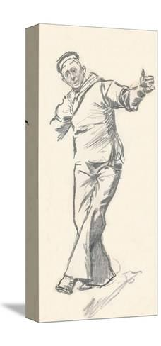 Lead Pencil Sketch by Phil May, C19th Century (1903-1904)-Philip William May-Stretched Canvas Print