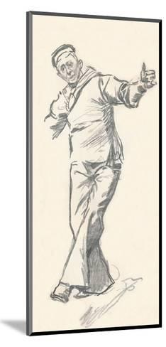 Lead Pencil Sketch by Phil May, C19th Century (1903-1904)-Philip William May-Mounted Giclee Print