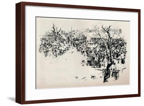 A Street Scene at Asakusa, C1897-Mortimer L Menpes-Framed Art Print