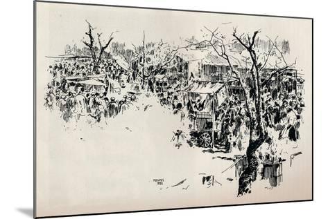 A Street Scene at Asakusa, C1897-Mortimer L Menpes-Mounted Giclee Print