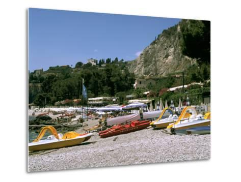 Mendolia Beach, Taormina, Sicily, Italy-Peter Thompson-Metal Print