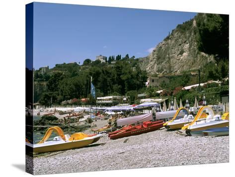 Mendolia Beach, Taormina, Sicily, Italy-Peter Thompson-Stretched Canvas Print