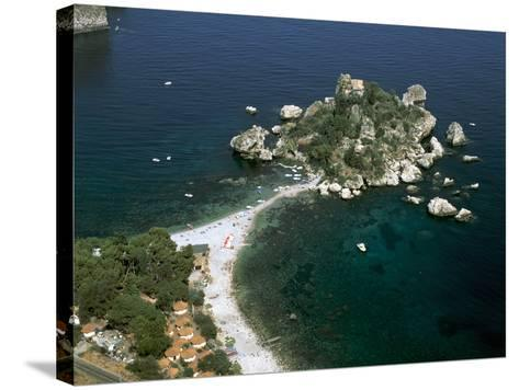 Isola Bella, Taormina, Sicily, Italy-Peter Thompson-Stretched Canvas Print