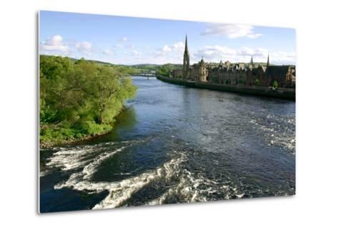 River Tay and Perth, Scotland-Peter Thompson-Metal Print