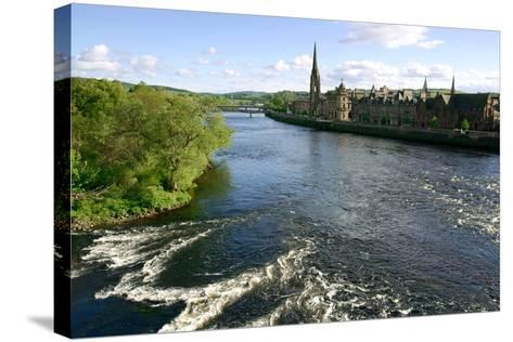 River Tay and Perth, Scotland-Peter Thompson-Stretched Canvas Print