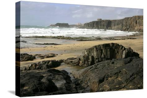 Coastline Near El Cotillo, Fuerteventura, Canary Islands-Peter Thompson-Stretched Canvas Print