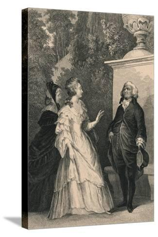 Queen Marie Antoinette and Mirabeau, C1832-Charles W Sharpe-Stretched Canvas Print