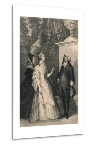 Queen Marie Antoinette and Mirabeau, C1832-Charles W Sharpe-Metal Print