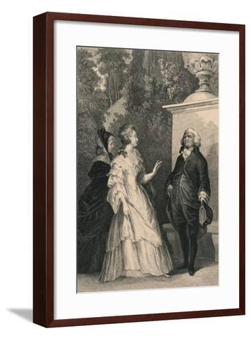 Queen Marie Antoinette and Mirabeau, C1832-Charles W Sharpe-Framed Art Print