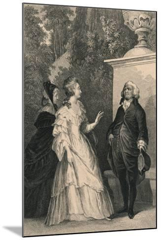 Queen Marie Antoinette and Mirabeau, C1832-Charles W Sharpe-Mounted Giclee Print