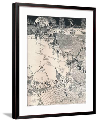 High Times on the Desplaines, C1890-Frederick Richardson-Framed Art Print